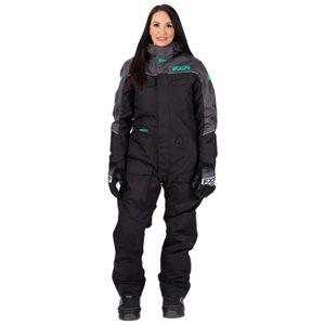 Monosuit Excursion femme black / char / mint