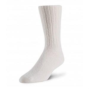Chaussettes Bivouac laine d'agneau blanc
