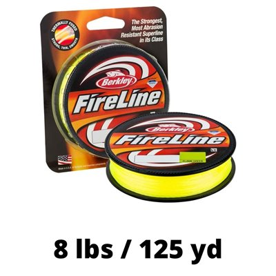 LIGNE FIRELINE 8 LBS 125 YD FLAME GREEN