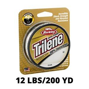 Ligne TRILENE 100% Fluorocarbon Professional Grade 12lbs / 200yd