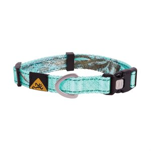 "Collier pour chien camouflage turquoise grand 18""-28"""